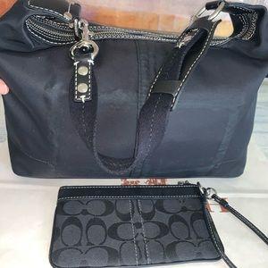 Coach shoulder bag and Coach wristlet